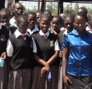 First year scholar, Eunita Akim, reports that her youth group earned enough money from the sale of maize that members decided to help needy girls at Hadasah Girls High School in Kisumu Kenya stay in school by providing them with sanitary towels.