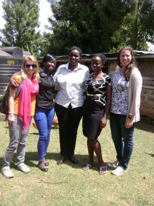 from left Nicole, Eunita, Ckaimenyi, Catherine and   Megan